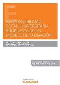 RESPONSABILIDAD SOCIAL UNIVERSITARIA - PROPUESTA DE UN MODELO DE VALIDACION (DUO)