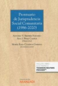 PRONTUARIO DE JURISPRUDENCIA SOCIAL COMUNITARIA (1986-2020) (DUO)