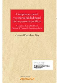 COMPLIANCE PENAL Y RESPONSABILIDAD PENAL DE LAS PERSONAS JURIDICAS (DUO)