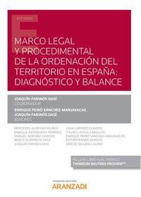 MARCO LEGAL Y PROCEDIMENTAL DE LA ORDENACION DEL TERRITORIO EN ESPAÑA - DIAGNOSTICO Y BALANCE (DUO)