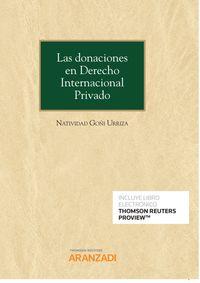 DONACIONES EN DERECHO INTERNACIONAL PRIVADO, LAS (DUO)