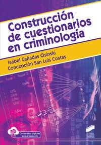 CONSTRUCCION DE CUESTIONARIOS EN CRIMINOLOGIA