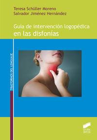 GUIA DE INTERVENCION LOGOPEDICA EN LAS DISFONIAS