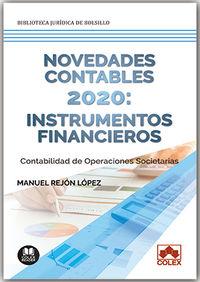 NOVEDADES CONTABLES 2020 - INSTRUMENTOS FINANCIEROS - CONTABILIDAD DE OPERACIONES SOCIETARIAS