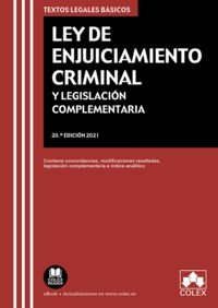 (20 ED) LEY DE ENJUICIAMIENTO CRIMINAL Y LEGISLACION COMPLEMENTARIA