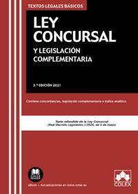 (3 ed) ley concursal y legislacion complementaria - contiene concordancias, legislacion complementaria e indice analitico - Aa. Vv.