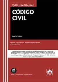 (20 ED) CODIGO CIVIL - TEXTO LEGAL BASICO CON CONCORDANCIAS, MODIFICACIONES RESALTADAS E INDICE ANALITICO