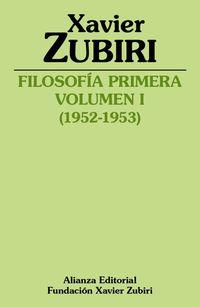 FILOSOFIA PRIMERA (1952-1953) - VOLUMEN I