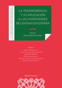 TRANSPARENCIA Y SU APLICACION A LAS CONFESIONES RELIGIOSAS EN ESPAUA