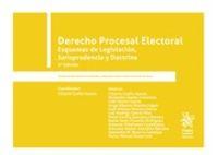 (2 ED) DERECHO PROCESAL ELECTORAL - ESQUEMAS DE LEGISLACION, JURISPRUDENCIA Y DOCTRINA