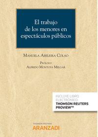 TRABAJO DE LOS MENORES EN ESPECTACULOS PUBLICOS, EL (DUO)