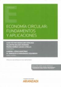 economia circular - fundamentos y aplicaciones (duo) - Gabriel Lopez Martinez (ed. )