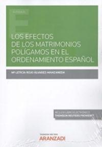 LOS EFECTOS DE LOS MATRIMONIOS POLIGAMOS EN EL ORDENAMIENTO ESPAÑOL (DUO)