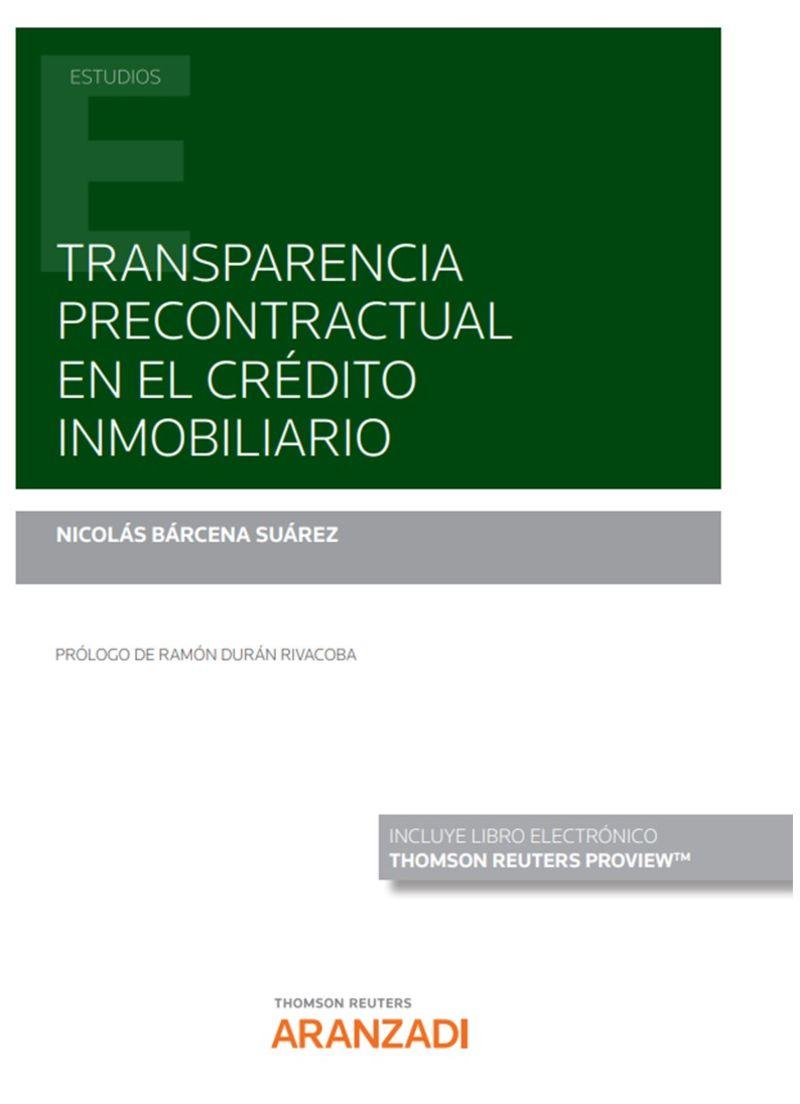 TRANSPARENCIA PRECONTRACTUAL EN EL CREDITO INMOBILIARIO (DUO)