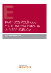PARTIDOS POLITICOS Y AUTONOMIA PRIVADA - JURISPRUDENCIA