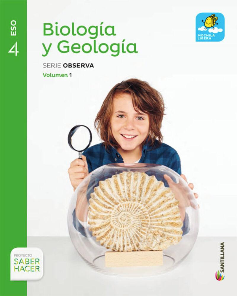 ESO 4 - BIOLOGIA Y GEOLOGIA TRIM - MOCHILA LIGERA - OBSERVA - SABER HACER
