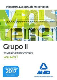 TEMARIO PARTE COMUN I - PERSONAL LABORAL DE MINISTERIOS