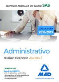 TEMARIO ESPECIFICO 1 - ADMINISTRATIVO DEL SERVICIO ANDALUZ DE SALUD (SAS)