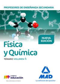 PROFESORES ESO - TEMARIO IV - FISICA Y QUIMICA