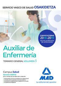 TEMARIO GENERAL 3 - AUXILIAR DE ENFERMERIA - OSAKIDETZA 2018 - SERVICIO VASCO DE SALUD