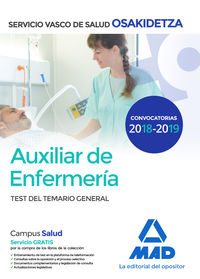 TEST GENERAL - AUXILIAR DE ENFERMERIA - OSAKIDETZA 2018 - SERVICIO VASCO DE SALUD