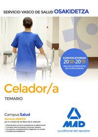 TEMARIO - CELADOR - OSAKIDETZA 2018 - SERVICIO VASCO DE SALUD