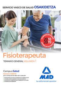 TEMARIO GENERAL 1 - FISIOTERAPEUTA - OSAKIDETZA 2018 - SERVICIO VASCO DE SALUD