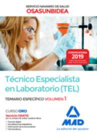 Temario Especifico 1 - Tecnico Especialista En Laboratorio (osasunbidea) - Servicio Navarro De Salud - Aa. Vv.