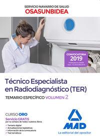 Temario Especifico 2 - (ter) Tecnico Especialista En Radiodiagnostico - Osasunbidea) - Servicio Navarro De Salud - Aa. Vv.