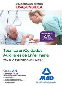TEMARIO ESPECIFICO 2 - TECNICO EN CUIDADOS AUXILIARES DE ENFERMERIA (OSASUNBIDEA) - SERVICIO NAVARRA DE SALUD