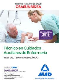 Test Del Temario Especifico - Tecnico En Cuidados Auxiliares De Enfermeria (osasunbidea) - Servicio Navarro De Salud - Aa. Vv.