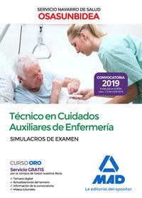 Simulacros Examen - Tecnico En Cuidados Auxiliares De Enfermeria (osasunbidea) - Servicio Navarro De Salud - Aa. Vv.
