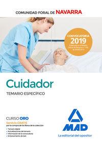 TEMARIO ESPECIFICO - CUIDADOR DE LA ADMINISTRACION DE LA COMUNIDD FORAL DE NAVARRA
