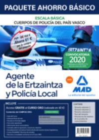 PAQUETE AHORRO BASICO - AGENTE DE LA ERTZAINTZA Y POLICIA LOCAL - ESCALA BASICA - CUERPOS DE POLICIA DEL PAIS VASCO