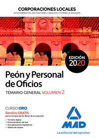 TEMARIO 2 - PEON Y PERSONAL DE OFICIOS DE CORPORACIONES LOCALES