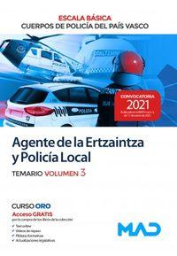 TEMARIO 3 - AGENTE DE LA ERTZAINTZA Y POLICIA LOCAL - ESCALA BASICA