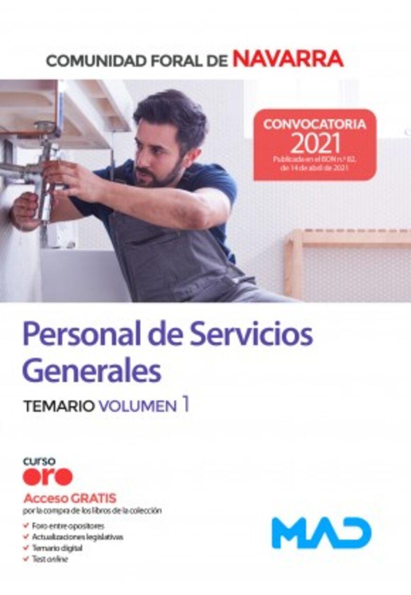 TEMARIO 1 - PERSONAL DE SERVICIOS GENERALES - COMUNIDAD FORAL DE NAVARRA