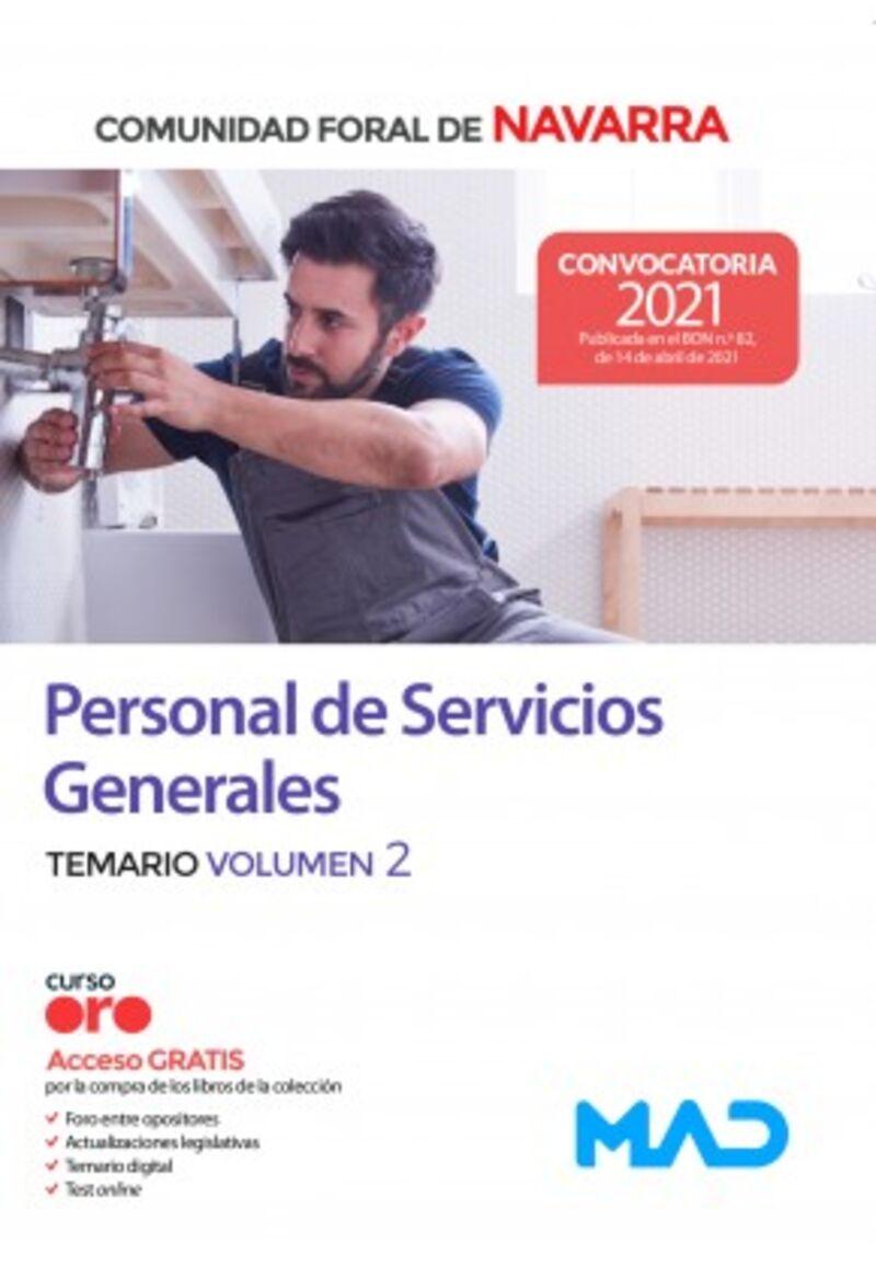 TEMARIO 2 - PERSONAL DE SERVICIOS GENERALES - COMUNIDAD FORAL DE NAVARRA