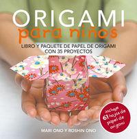 ORIGAMI PARA NIÑOS - LIBRO Y PAQUETE DE PAPEL DE ORIGAMI CON 35 PROYECTOS
