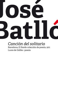cancion del solitario - Jose Batllo
