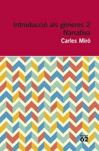 INTRODUCCIO ALS GENERES 2 - NARRATIVA