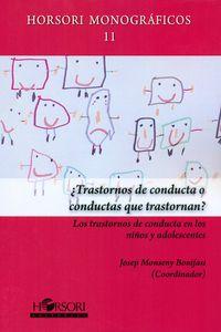 ¿transtornos De Conducta O Conducta Que Transportan? - Josep Monseny Bonifasi