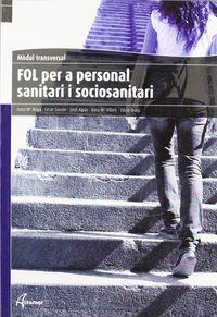 Fol Per A Personal Sanitari I Sociosabitari - Aa. Vv.