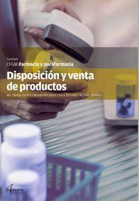 gm - disposicion y venta productos - farmacia y parafarmacia - Maria Teresa Tocino Garcia