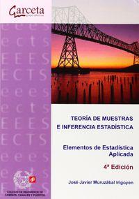 TEORIA DE MUESTRAS E INFERENCIA ESTADISTICA - ELEMENTOS DE ESTADISTICA APLICADA