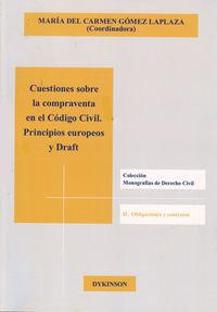 CUESTIONES SOBRE LA COMPRAVENTA EN CODIGO CIVIL