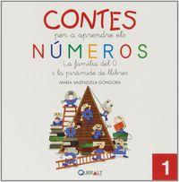 Contes Per Aprendre Els Numeros 1 - La Familia Del 0 I La Piramide Dels Llibres - Maria Valenzuela Gongora