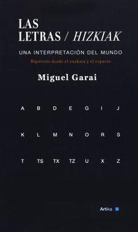 Letras, Las = Hitzak - Miguel Garai