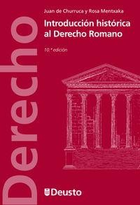 (10ª ED) INTRODUCCION HISTORICA AL DERECHO ROMANO