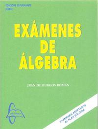 EXAMENES DE ALGEBRA